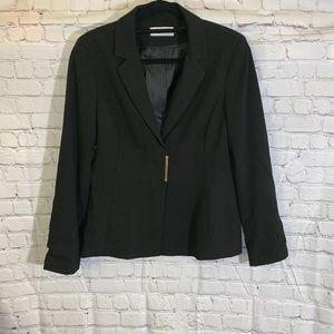 Calvin Klein Blazer Jacket 12 Black Sleek Career